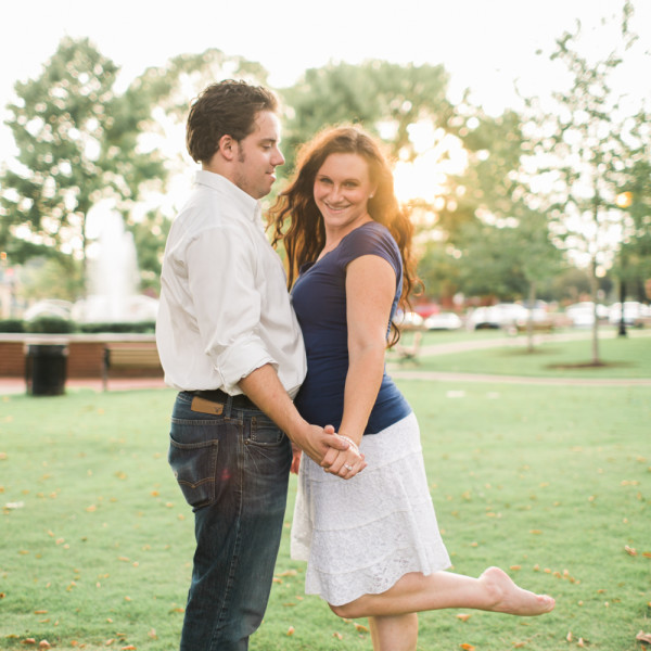 Downtown Woodstock Engagement Photos ~ playful and beautiful ~ Wedding Photographer