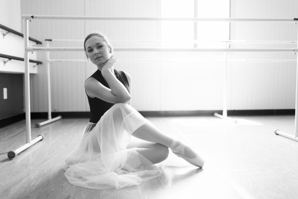 teenage ballerina senior portrait