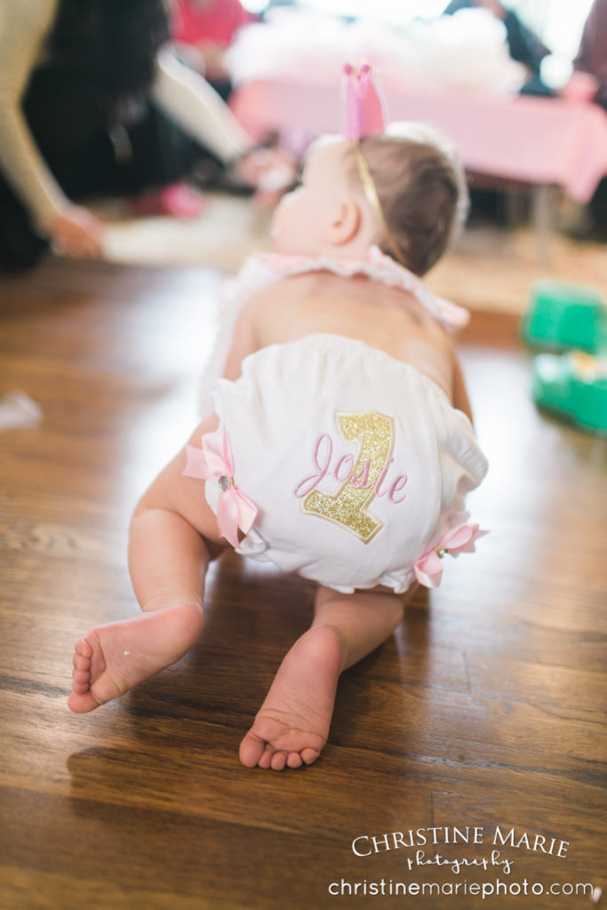 first birthday embroidered bum bloomers