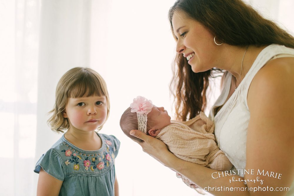 toddler and newborn photography
