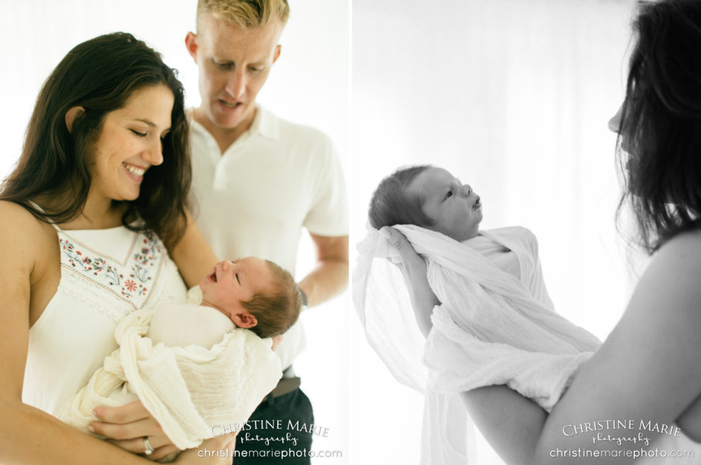 newborns photos with mom and dad