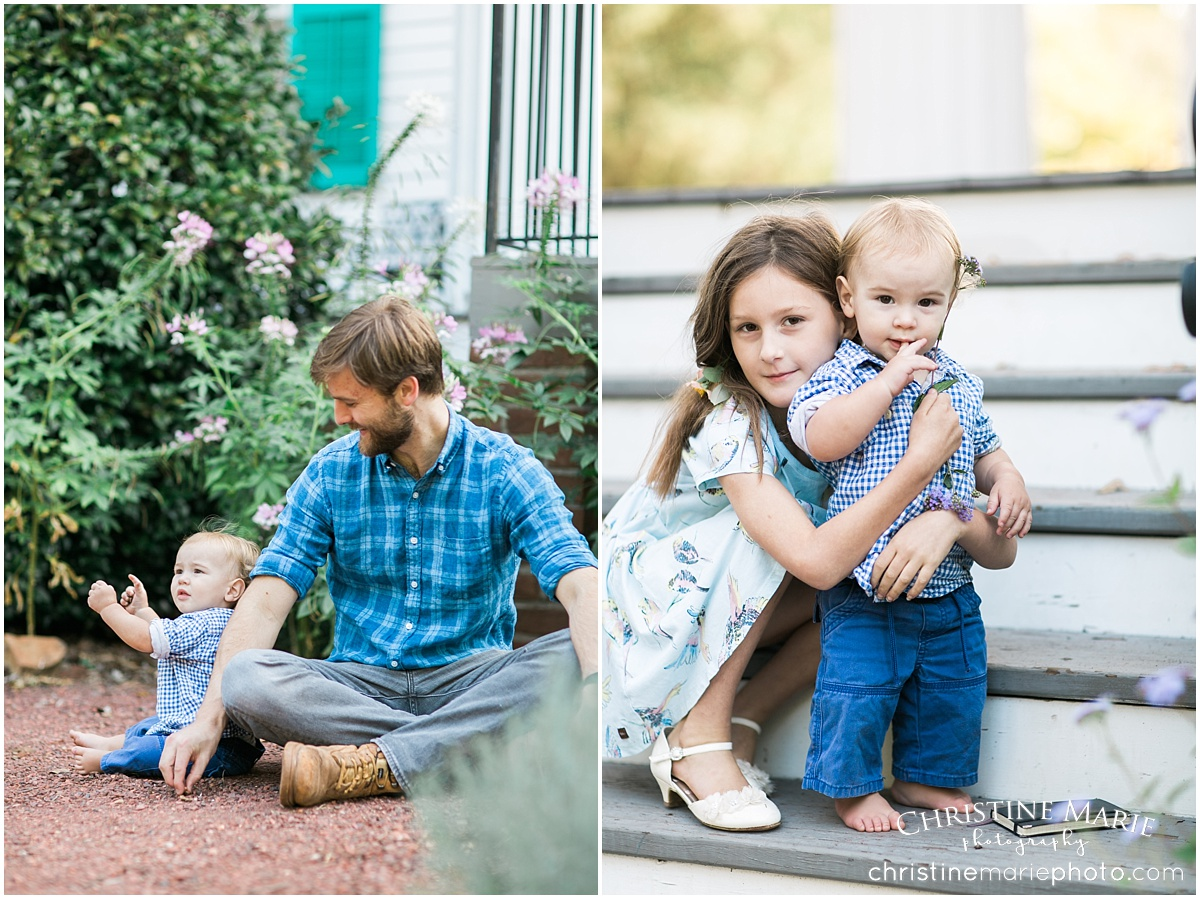 natural barrington hall family session