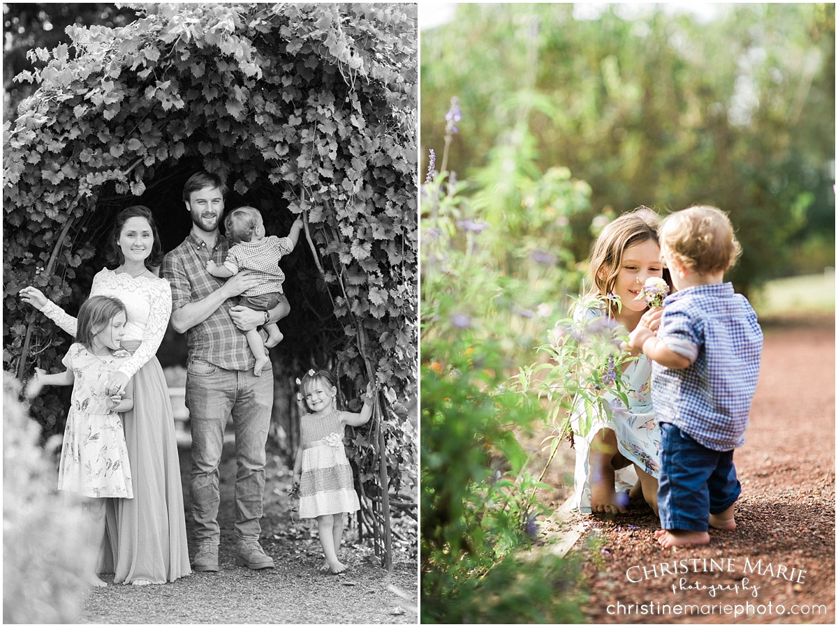 natural family photo session roswell