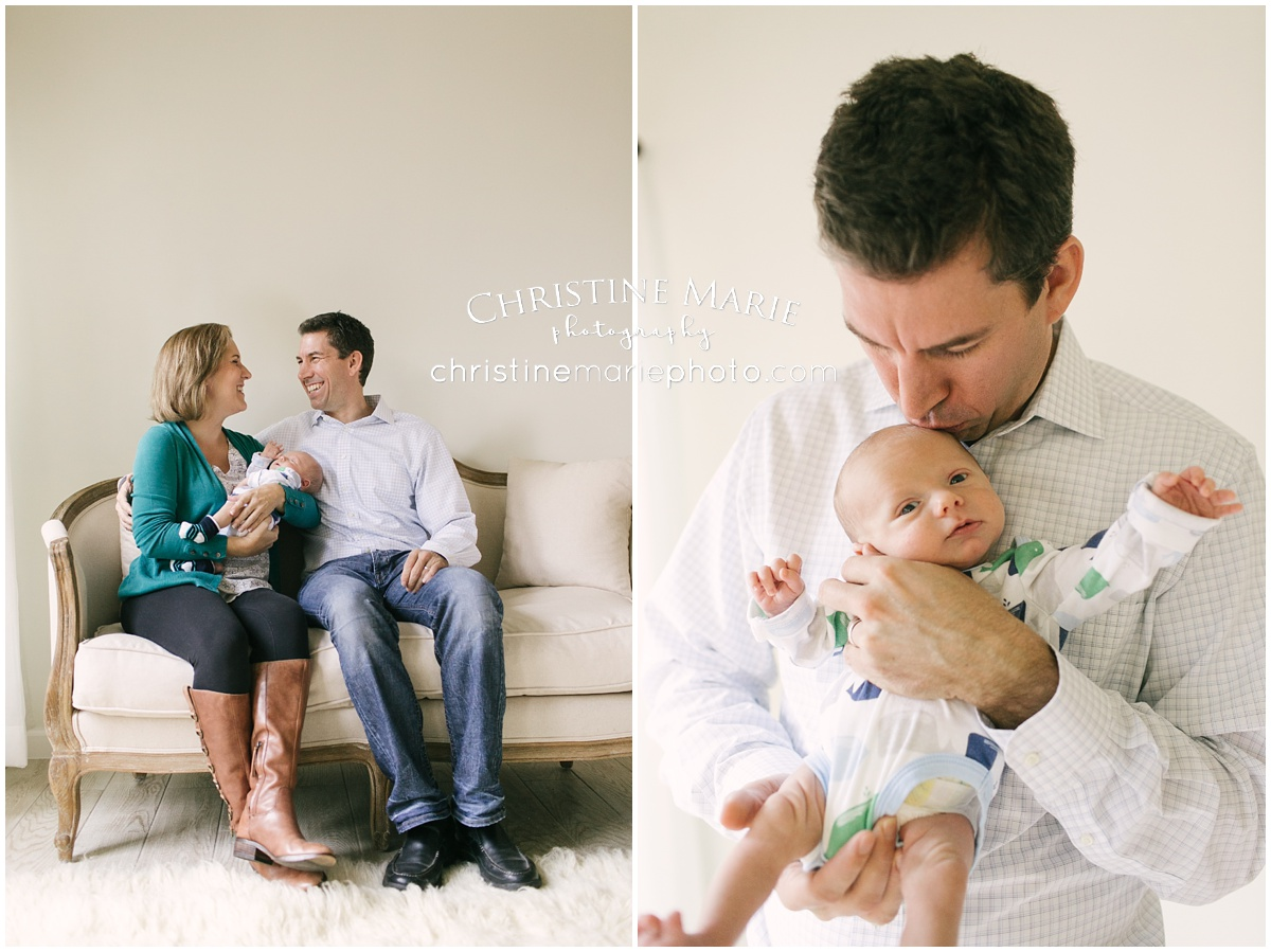 Studio newborn session alpharetta ga family with newborn portraits