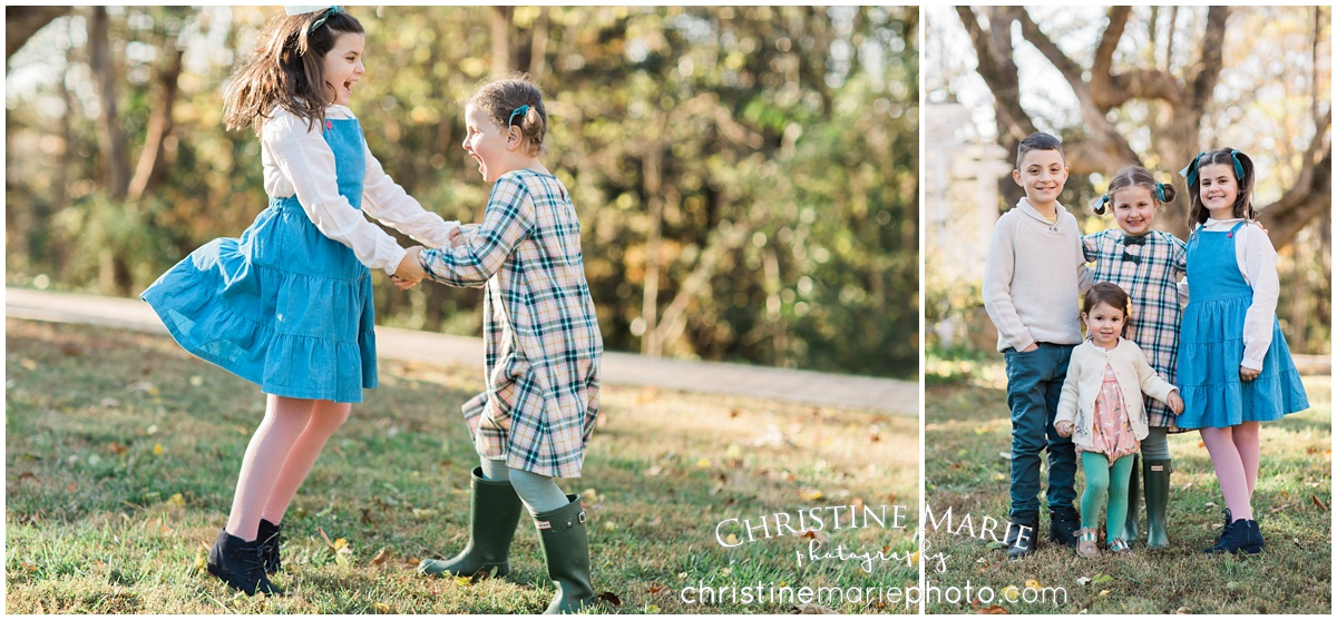 fun family photography little girl playing hunter boots
